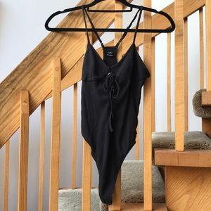 NWOT Black Bustier Bodysuit
